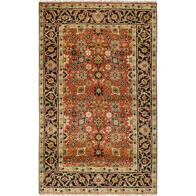 One-of-a-Kind Ismail Hand-Knotted Wool Dark Copper Area Rug