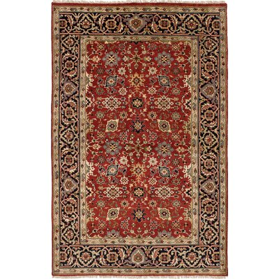 One-of-a-Kind Ismail Hand-Knotted Wool Red Area Rug