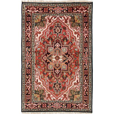 One-of-a-Kind Issac Hand-Knotted Wool Orange Area Rug