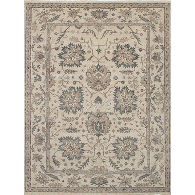 One-of-a-Kind Eglinton Hand-Knotted Wool Beige Area Rug