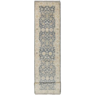 One-of-a-Kind Itchington Hand-Knotted Wool Gray Area Rug