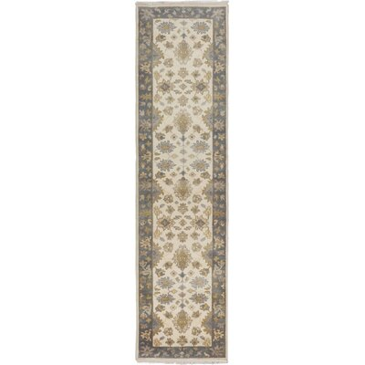 One-of-a-Kind Itchington Hand-Knotted Wool Cream Area Rug