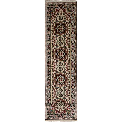 One-of-a-Kind Issac Hand-Knotted Wool Cream Area Rug