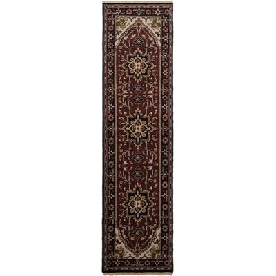 One-of-a-Kind Issac Hand-Knotted Wool Dark Red Area Rug