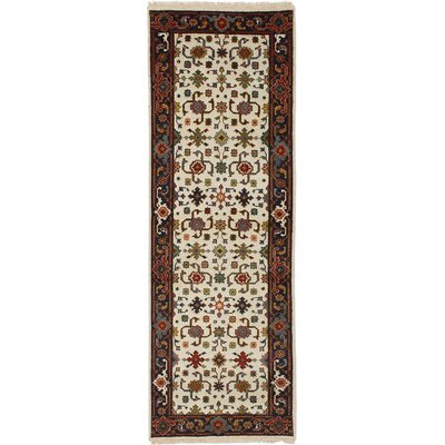One-of-a-Kind Ismail Hand-Knotted Wool White Area Rug