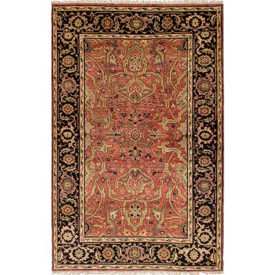 One-of-a-Kind Ismail Hand-Knotted Wool Peach Area Rug