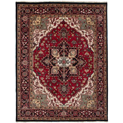 One-of-a-Kind Issac Hand-Knotted Wool Red Area Rug