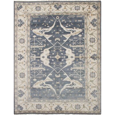 One-of-a-Kind Itchington Hand-Knotted Wool Dark Gray Area Rug