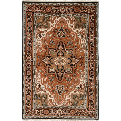 One-of-a-Kind Issac Hand-Knotted Wool Copper Area Rug