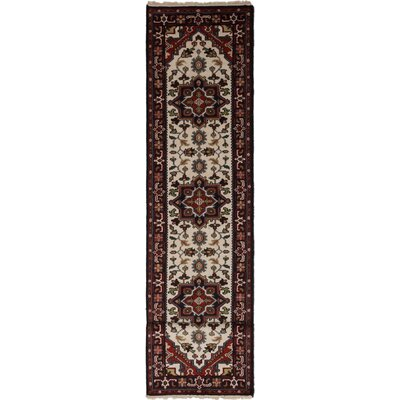 One-of-a-Kind Issac Hand-Knotted Wool Red/Cream Area Rug