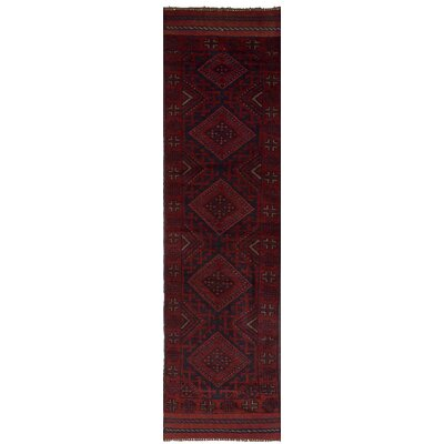 One-of-a-Kind Jacobus Hand-Knotted Wool Red Area Rug