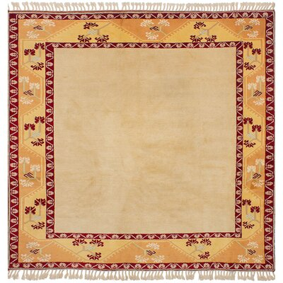 One-of-a-Kind Jacobsen Hand-Knotted Wool Cream Area Rug