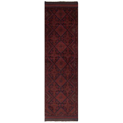 One-of-a-Kind Jacobus Hand-Knotted Wool Dark Red Area Rug