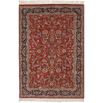 One-of-a-Kind Prompton Hand-Knotted Wool Dark Copper  Area Rug