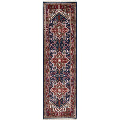 One-of-a-Kind Issac Hand-Knotted Wool Navy Blue Area Rug Rug Size: Runner 28 x 911
