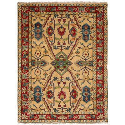 One-of-a-Kind Jaggers Hand-Knotted Wool Cream Area Rug