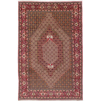 One-of-a-Kind Ivery Hand-Knotted Wool Red Area Rug