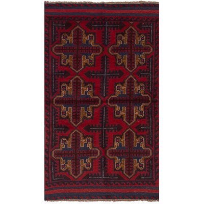 One-of-a-Kind Izzo Hand-Knotted Wool Red Area Rug
