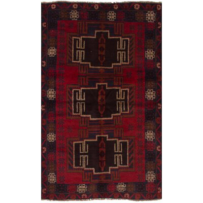 One-of-a-Kind Jaheim Hand-Knotted Wool Red/Brown Area Rug