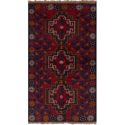 One-of-a-Kind Jaheim Hand-Knotted Wool Red/Blue Area Rug