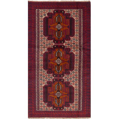 One-of-a-Kind Jaheim Hand-Knotted Wool Red Area Rug