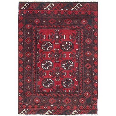 One-of-a-Kind Izquierdo Hand-Knotted Wool Red Area Rug
