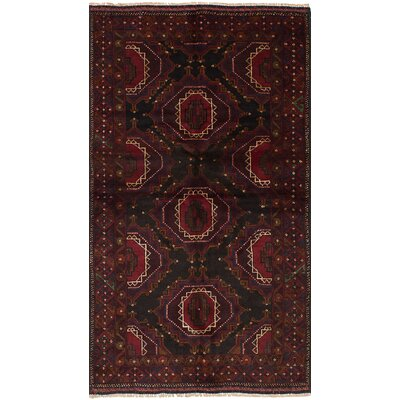 One-of-a-Kind Jaheim Hand-Knotted Wool Red/Black Area Rug
