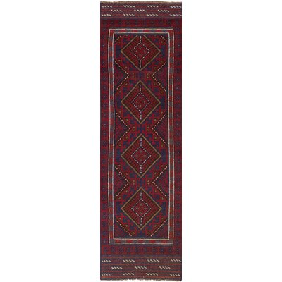One-of-a-Kind Jacobus Hand-Knotted Wool Red/Blue Area Rug