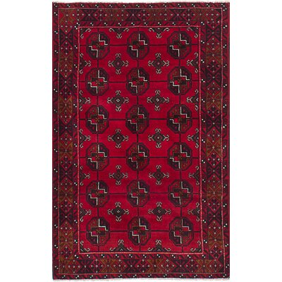 One-of-a-Kind Kangas Hand-Knotted Wool Red/Black Area Rug