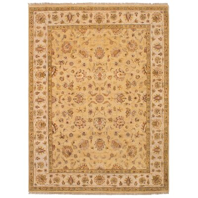 One-of-a-Kind Verena Hand-Knotted Wool Beige Area Rug
