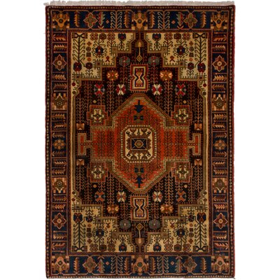 One-of-a-Kind Kanode Hand-Knotted Wool Brown/Beige Area Rug