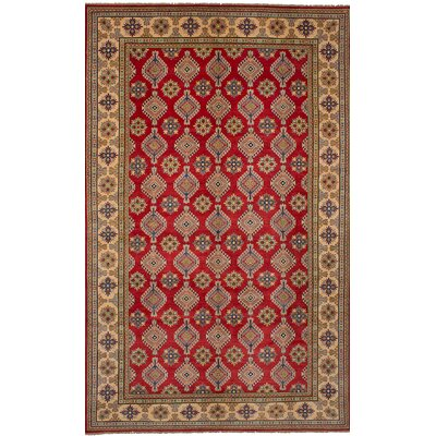 One-of-a-Kind Jaggers Hand-Knotted Wool Red/Beige Area Rug