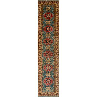 One-of-a-Kind Jaggers Hand-Knotted Wool Turquoise/Beige Area Rug