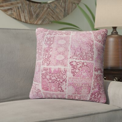 Duane Patchwork Throw Pillow Size: 24 H x 24 W x 6 D, Color: Pink, Ivory