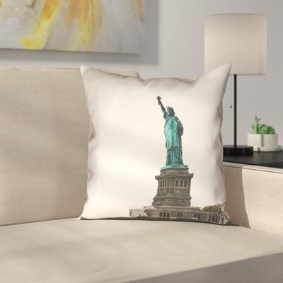 Statue of Liberty Double Sided Print Square Pillow Cover Size: 14 x 14