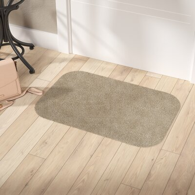 Concord Doormat Size: Rectangle 20 x 30, Color: Brown/White