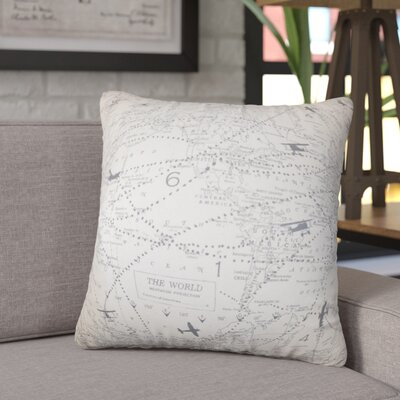 Hulton Typography Cotton Throw Pillow