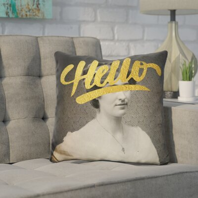 Cornette Hello Throw Pillow