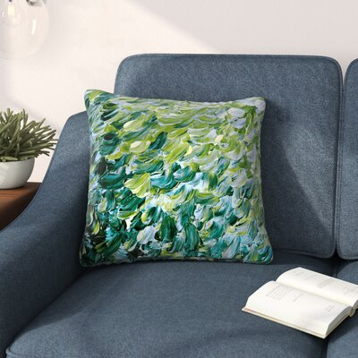 Ebi Emporium Frosted Feathers 3 Outdoor Throw Pillow Size: 16 H x 16 W x 5 D