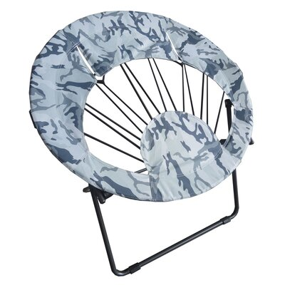 Bungee Folding Dorm Papasan Chair Upholstery Color: Camo