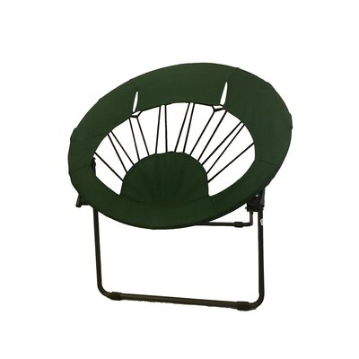 Bungee Folding Dorm Papasan Chair Upholstery Color: Forest Green