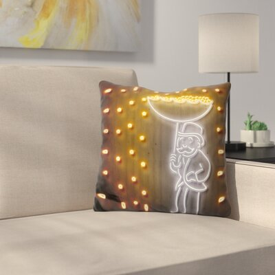 Money Rain Throw Pillow