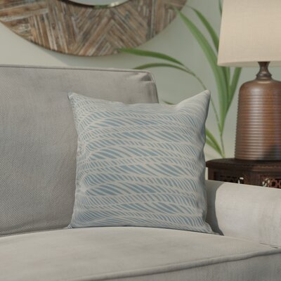Viet Rolling Waves Indoor/Outdoor Throw Pillow Size: 18 H x 18 W, Color: Light Blue