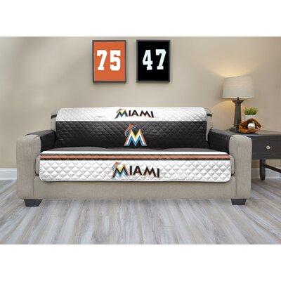 MLB Sofa Slipcover MLB Team: Miami Marlins, Size: Large