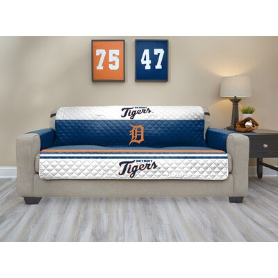 MLB Sofa Slipcover MLB Team: Detroit Tigers, Size: Small