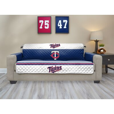 MLB Sofa Slipcover MLB Team: Minnesota Twins, Size: Small