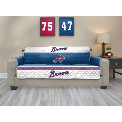MLB Sofa Slipcover MLB Team: Atlanta Braves, Size: Large