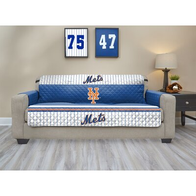 MLB Sofa Slipcover MLB Team: New York Mets, Size: Small
