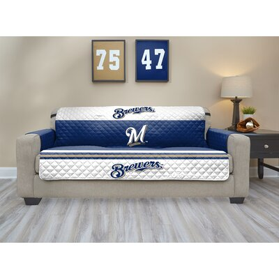 MLB Sofa Slipcover MLB Team: Milwaukee Brewers, Size: Small