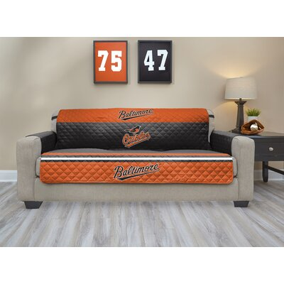 MLB Sofa Slipcover MLB Team: Baltimore Orioles, Size: Small